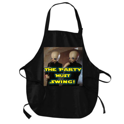 The Party Must Swing Medium-length Apron Designed By Princeone