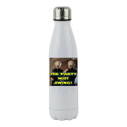 The Party Must Swing Stainless Steel Water Bottle Designed By Princeone