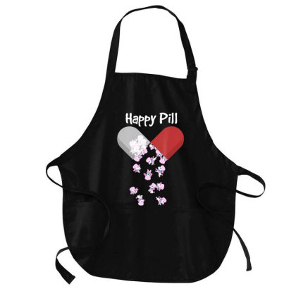 Poodles Happy Pill Shirt. Poodle Mom Dad Gifts Cute Medium-length Apron Designed By Time0205