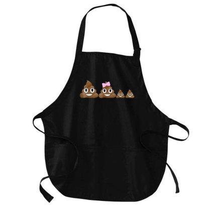 Poop Family Emoji Emoticon Smiley  For Mom Dad Geek  T Shirt Medium-length Apron Designed By Cute2580