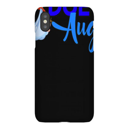 Pregnancy Shirt Due In August Bue Mom Dad Baby Pregnant Iphonex Case Designed By Time0205
