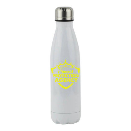 Prin.c.e.s.s  Pro.tec.tion Agency Protective Dad T Shirt Stainless Steel Water Bottle Designed By Cute2580