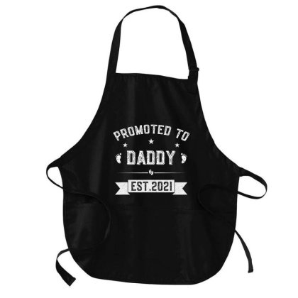 Promoted To Daddy 2021 New Father Soon To Be Dad Gift T Shirt Medium-length Apron Designed By Cute2580
