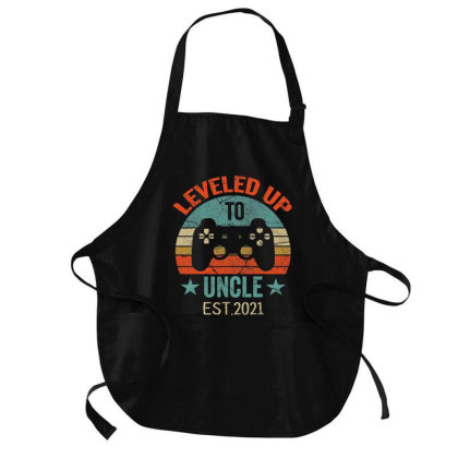 Promoted To Uncle Est. 2021 2020 Leveled Up To Daddy & Dad T Shirt Medium-length Apron Designed By Time0205