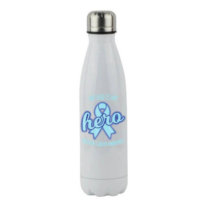 Prostate Cancer Awareness Rib.bon  My Dad Shirts Stainless Steel Water Bottle Designed By Time0205