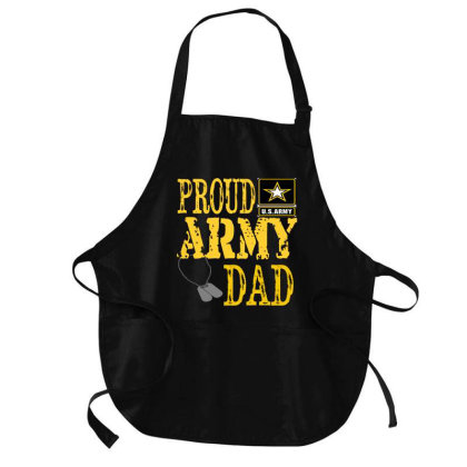 Proud A.r.m.y Dad   Military Pride Shirt Medium-length Apron Designed By Cute2580