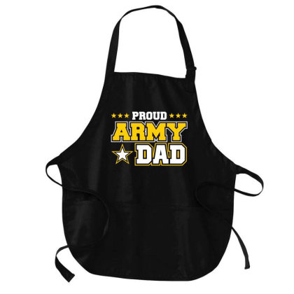 Proud A.r.m.y Dad  Us Military Dad Family Medium-length Apron Designed By Cute2580