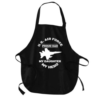 Proud .ai.r F.o.r.ce Dad  Gifts   My Daughter T Shirt Medium-length Apron Designed By Time0205