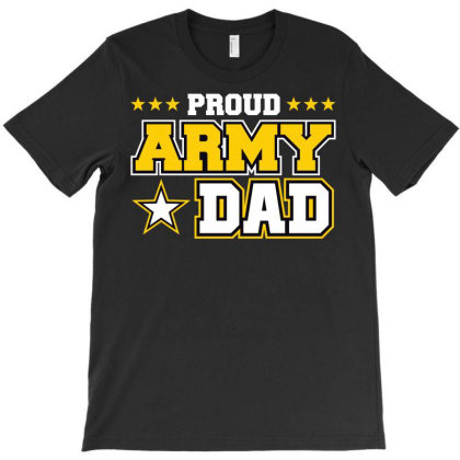 Proud A.r.m.y Dad  Us Military Dad Family T-shirt Designed By Cute2580