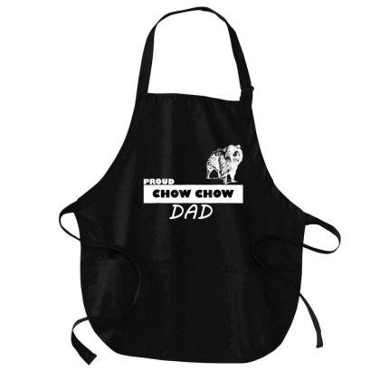 Proud  Chow Chow Dog Dad T Shirt Medium-length Apron Designed By Cuser3143