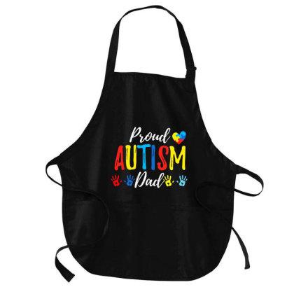 Proud Dad Autism Awareness Family Matching Shirt Medium-length Apron Designed By Cuser3143