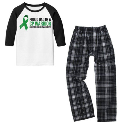 Proud Dad Cerebral Palsy Awareness T Shirt Youth 3/4 Sleeve Pajama Set Designed By Good0396