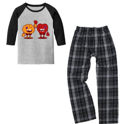 Brain & Heart Youth 3/4 Sleeve Pajama Set Designed By Tmax