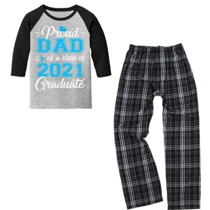 Proud Dad Of A Class Of 2021 Graduate Funny Senior 21 Gift T Shirt Youth 3/4 Sleeve Pajama Set Designed By Cuser3143