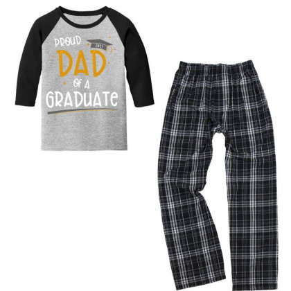Proud Dad Of A Class Of 2021 Graduate Graduation Gift T Shirt Youth 3/4 Sleeve Pajama Set Designed By Good0396