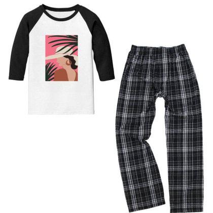Hawaiigirl Youth 3/4 Sleeve Pajama Set Designed By Designsbymallika