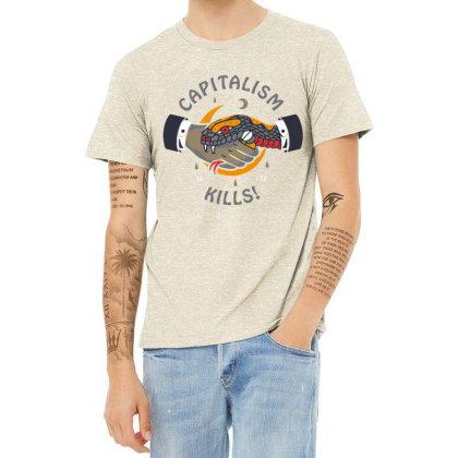 Capitalism Kill Heather T-shirt Designed By Hatta1976