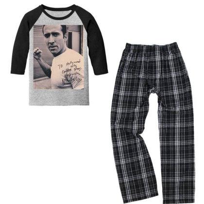 Nicolas Cage Fist Youth 3/4 Sleeve Pajama Set Designed By Princeone