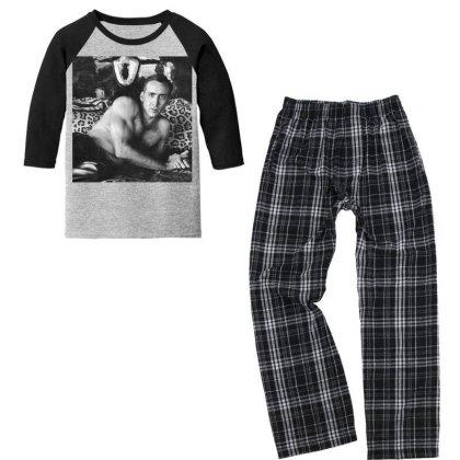 Nicolas Cage Waiting You Va Youth 3/4 Sleeve Pajama Set Designed By Princeone