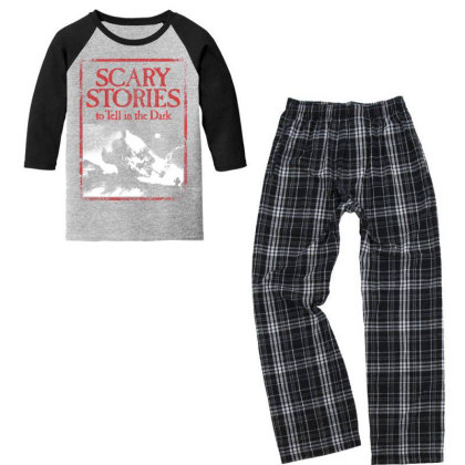 The Scary Terror Stories Youth 3/4 Sleeve Pajama Set Designed By Activoskishop