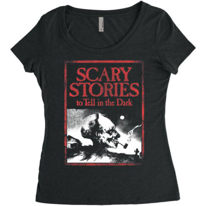 The Scary Terror Stories Women's Triblend Scoop T-shirt Designed By Activoskishop