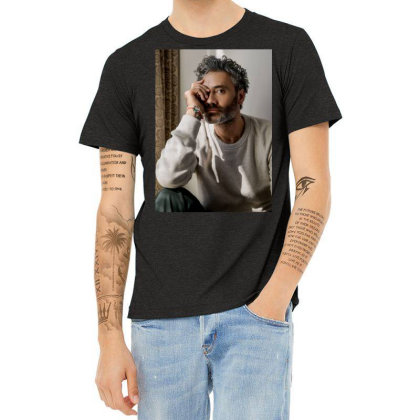 Taika Steven Waititi Heather T-shirt Designed By Princeone
