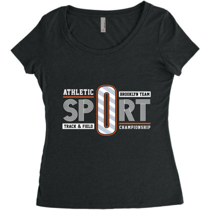Sport Atletic Women's Triblend Scoop T-shirt Designed By Hatta1976