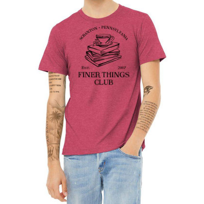 Finer Things Club - The Office Heather T-shirt Designed By Vetor Total