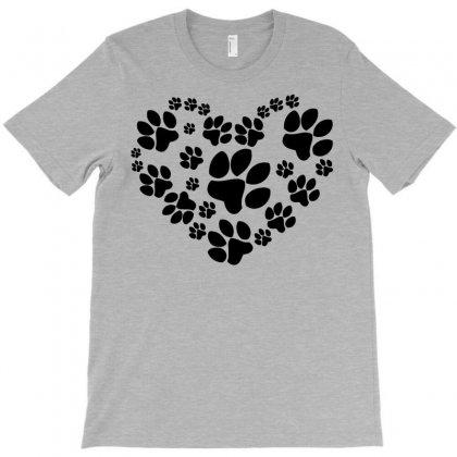 Cat Love Paw T-shirt Designed By Tshiart