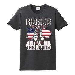 Honor The Fallen Thank The Living Memorial Day Ladies Classic T-shirt Designed By Mizanrahmanmiraz