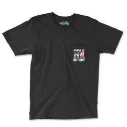 Memorial Day And Yes It's My Birthday Pocket T-shirt Designed By Mizanrahmanmiraz