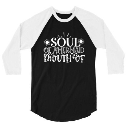 Soul Of Amermaid Mouth Of 3/4 Sleeve Shirt Designed By Gnuh79