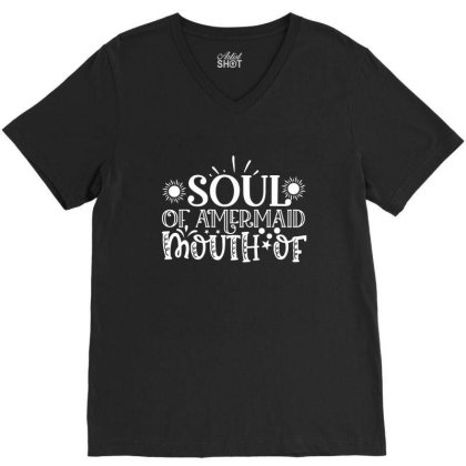 Soul Of Amermaid Mouth Of V-neck Tee Designed By Gnuh79