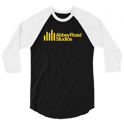 Abbey Road Studios Main Logo 3/4 Sleeve Shirt Designed By Mdk Art