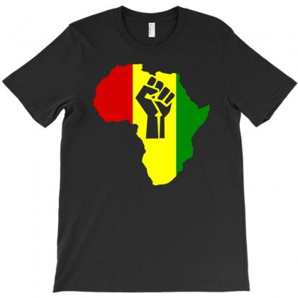 Africa Power Rasta Reggae Music T-shirt Designed By Mdk Art