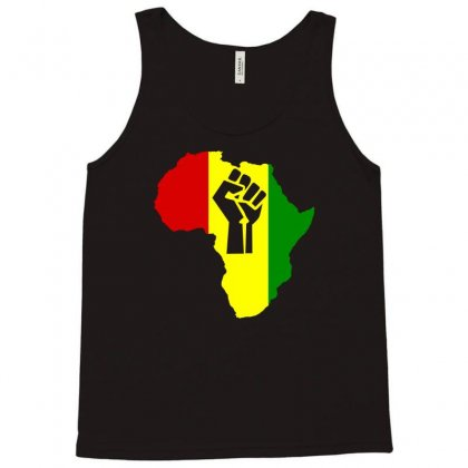 Africa Power Rasta Reggae Music Tank Top Designed By Mdk Art
