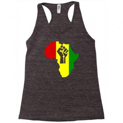 Africa Power Rasta Reggae Music Racerback Tank Designed By Mdk Art