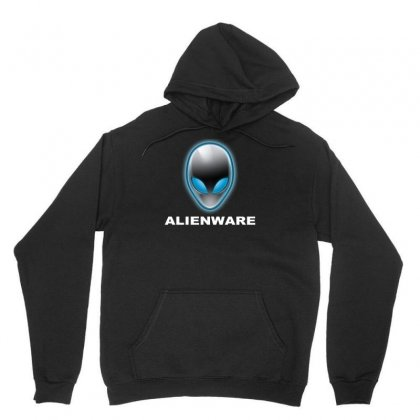 Alienware Logo Gaming Pc Unisex Hoodie Designed By Mdk Art