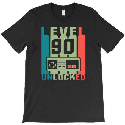 Level 90 Unlocked T-shirt Designed By Ismi4