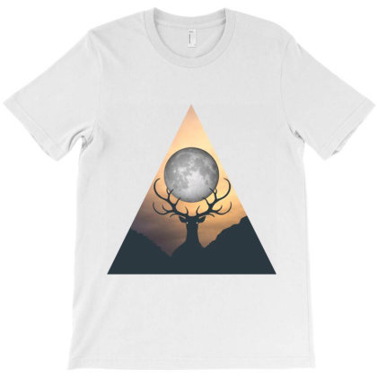 Deer Dark Triangle T-shirt Designed By Hatta1976