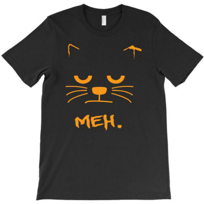 Meh. Angry Cat T-shirt Designed By Ismi4