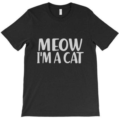 Meow I'm A Cat Lazy T-shirt Designed By Ismi4