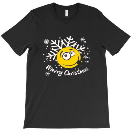 Merry Christmas Funny Smiley Face T-shirt Designed By Ismi4