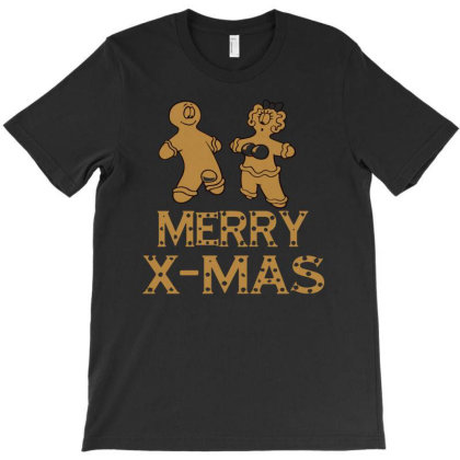 Merry X Mas Funny T-shirt Designed By Ismi4