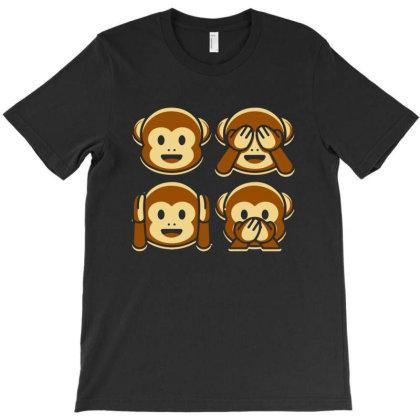 Monkey Emoji T-shirt Designed By Ismi4