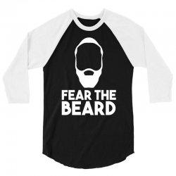 fear the beard 3/4 Sleeve Shirt | Artistshot