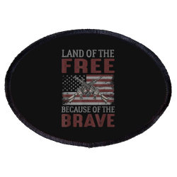 Land Of The Free Because Of The Brave Memorial Day Oval Patch Designed By Koopshawneen