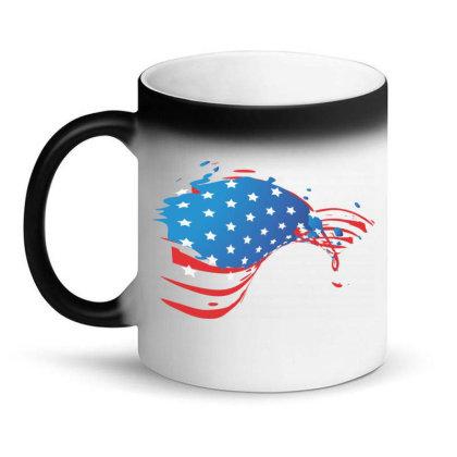 America, American Flag, Usa Magic Mug Designed By Estore