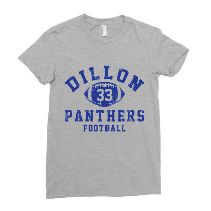 Dillon Panthers Football Ladies Fitted T-shirt Designed By Tridestia