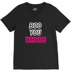 boo you whore swag tumblr V-Neck Tee | Artistshot